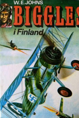 W.E. Johns bok Biggles i Finland (pärmbild)
