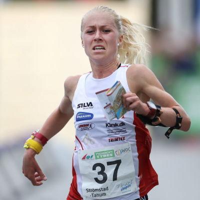 Maja Alm i VM-sprinten år 2016.