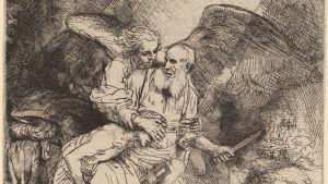 Rembrandt van Rijn: Opferung Isaks (1655)