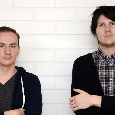 Evgenii Goncheko och Niklas Willstedt från bandet Ceremonials.