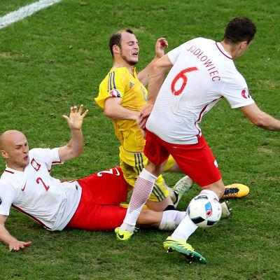 Legia-spelarna Michał Pazdan och Tomasz Jodłowiec kämpar vid EM för Polen.