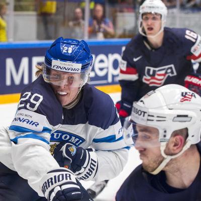 Patrik Laine mot USA, VM 2016.