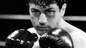 Nyrkkeilijä (Robert De Niro) kuvassa.