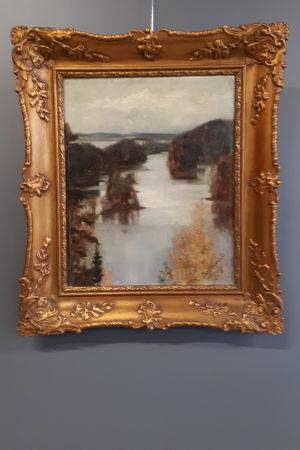 Detalj av målning av Edelfelt.