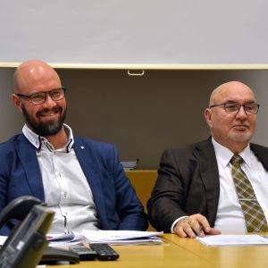 Porträtt av Kim Berg och Lars-Erik Gästgivars.