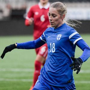 Linda Sällström, Finland-Serbien 2017.