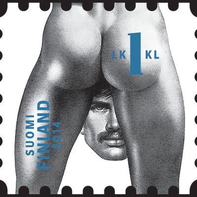 Tom of Finland - postimerkki vuodelta 2014