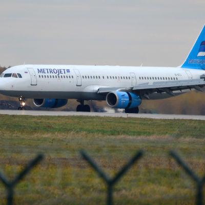 Ett av flygbolaget Kogalymavias plan. Bolaget är också känt under namnet Metrojet.