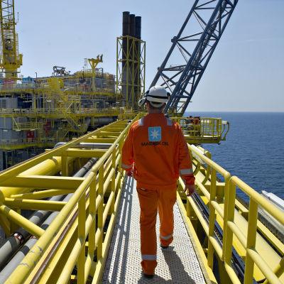 En av Maersks oljeplattformar i Nordsjön