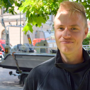 Anders Svahn från Iskmo frivilliga brandkår