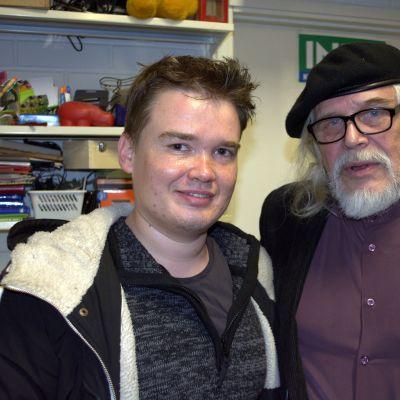 Kirjailijat Antti Heikkinen ja Heikki Turunen.