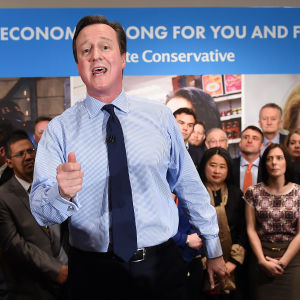 Tories partiledare presenterar småföretagtarprogram 27.4.2015