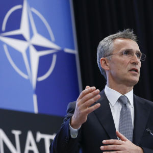 Natos generalsekreterare Jens Stoltenberg i Bryssel den 13 juni 2016.