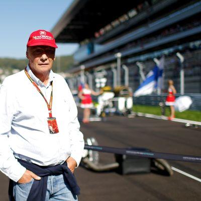 Niki Lauda Sotshin varikolla 2014.