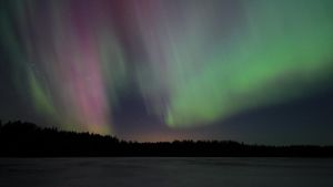 Norrsken i Fagervik i Ingå 17.3.15