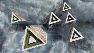 De nya skyskraporna i Mellersta Böle.
