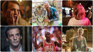 Ett kollage med bilder från tv-serier.