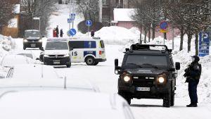 Polispådrag i Esbo 29.1.2021.