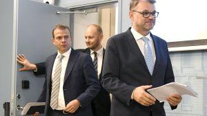 Petteri Orpo, Sampo Terho och Juha Sipilä