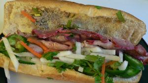 En vietnameisk smörgås, banh mi