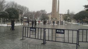 Sultanahmetmoskén i Istanbul där 11 turister dödades i ett bombdåd i januari 2016.