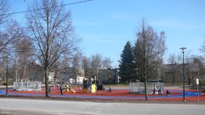 Parkourparken i Karis.