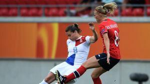 Solveig Guldbrandsen gjorde matchens enda mål