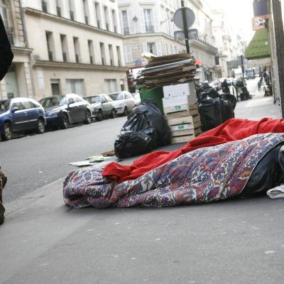 Hemlösa i Frankrike 2009