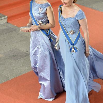 Kronprinsessan Mary (Danmark)  Drottning Mathilde (Belgien)
