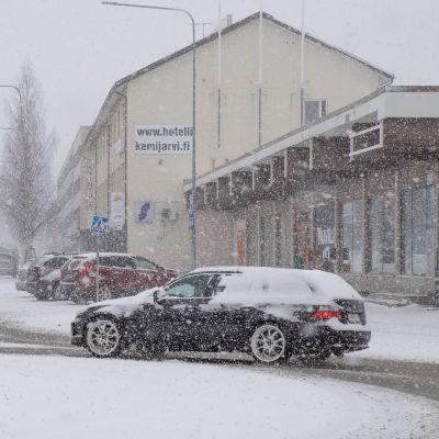 Kemijärvellä satoi lunta 7.5.2021