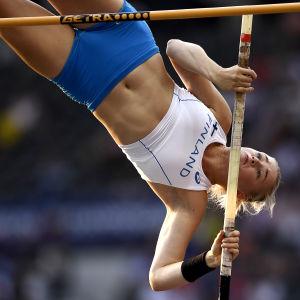 Wilma Murto hoppar stav vid EM i Berlin 2018.