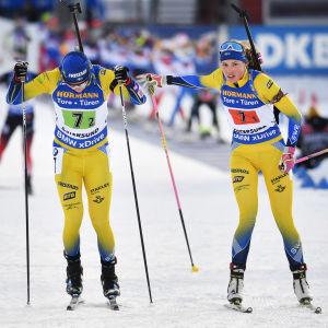 Hanna Öberg växlar till Sebastian Samuelsson vid VM 2019.