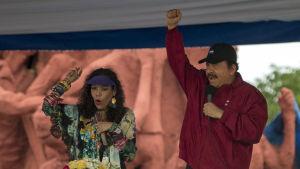 Rosario Murillo och Daniel Ortega på en arkivbild från juli 2017.