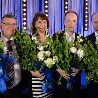 Timo Soini, Riikka Slunga-Poutsalo, Jussi Halla-aho, Sampo Terho