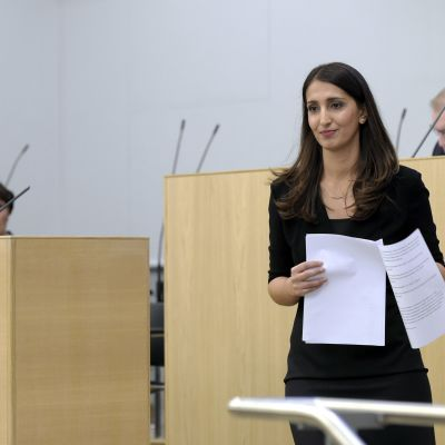 Nasima Razmyar under riksdagens diskussion om rasism