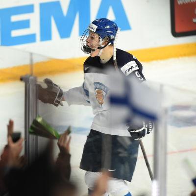 Jesse Puljujärvi var en viktig kugge i Finlands guldlag i junior-VM.