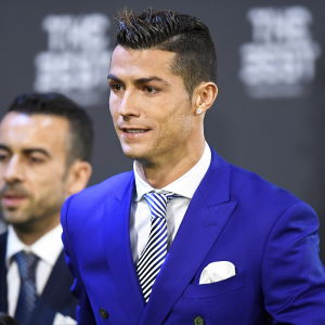 Cristiano Ronaldo under Fifa-galan 2017.
