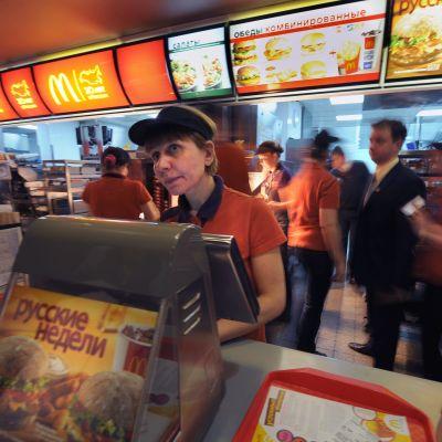 Arkivbild från McDonalds i Moskva 2010.