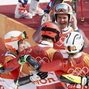 Norge firar efter lagtävlingen