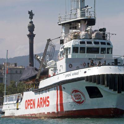 Räddningsfartyget open arms.