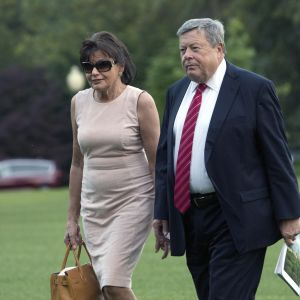 Amalija och Viktor Knavs på väg till Vita huset i juni år 2017
