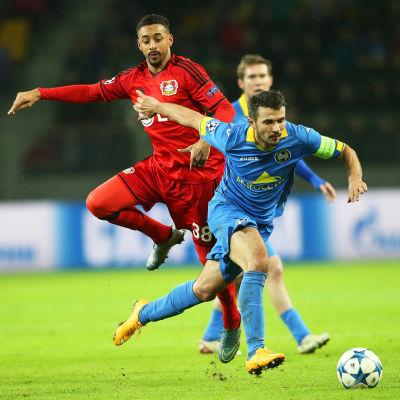 Varken Bate Borisov eller Bayer Leverkusen hade speciellt mycket att vara glada över.