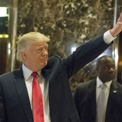 Donald Trump i Trump Tower, New York, 6.12.2016