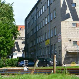 Före detta fabriksområde som omvandlats till kulturcentrum.
