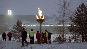 VM-elden under skid-VM 2001.