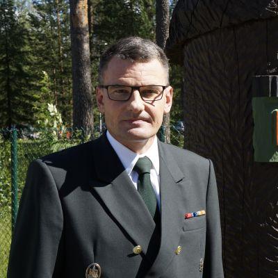 Pohjois-Karjalan rajavartioston komentaja Vesa Blomqvist