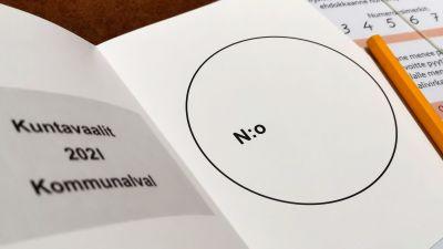 Kommunalval 2021, röstningsblankett