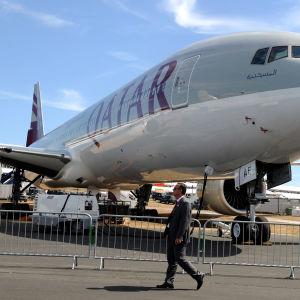 En Boeing-777 från Qatar Airways