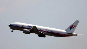 Malaysia Airlines flyg MH17 lyfter från Schiphol i Amsterdam.