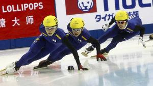 Noh Jin-Kyu (längst till vänster) i en tävling i Kina år 2012.